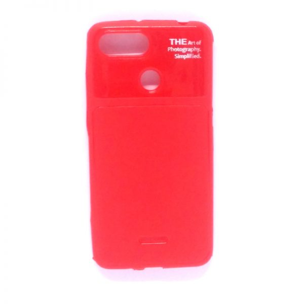 Art of Photography Back Case for Redmi 6 Red Colour