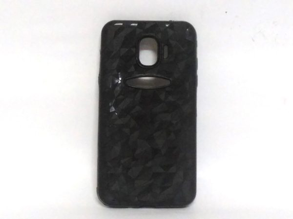 Crystal Back Case for Samsung J2(18) Black Colour