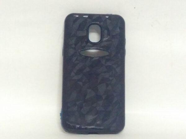 Crystal Back Case for Samsung J2(18) Dark Blue Colour