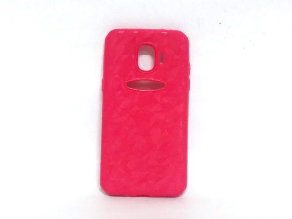 Crystal Back Case for Samsung J2(18) Pink Colour