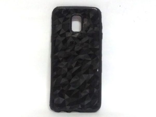 Crystal Back Case for Samsung J6(18) Black Colour