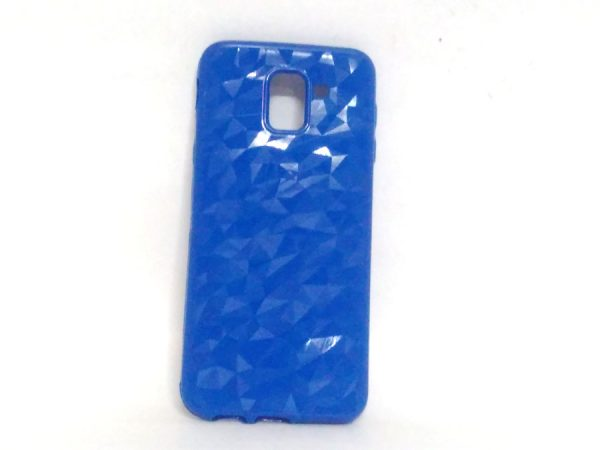Crystal Back Case for Samsung J6 Light Blue Colour