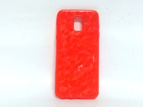 Crystal Back Case for Samsung J6 Red Colour