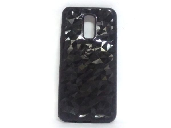 Crystal Back Case for Samsung A6 Plus Black Colour