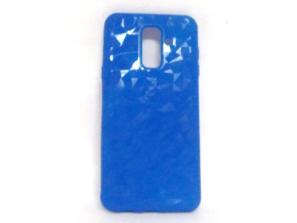 Crystal Back Case for Samsung A6 Plus Light Blue Colour
