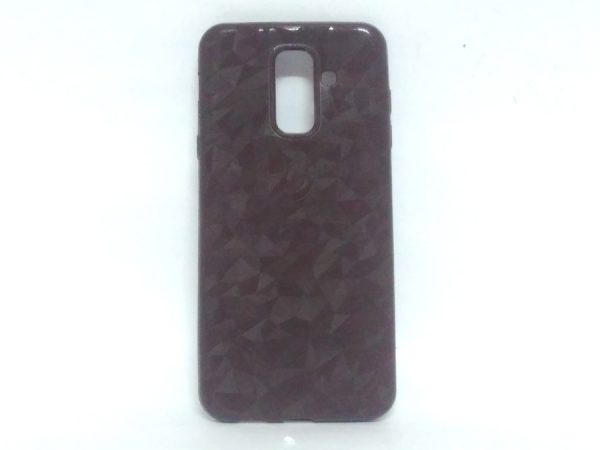 Crystal Back Case for Samsung A6 Plus Brown Colour