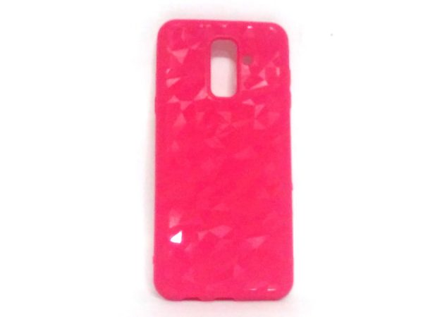 Crystal Back Case for Samsung A6 Plus Pink Colour