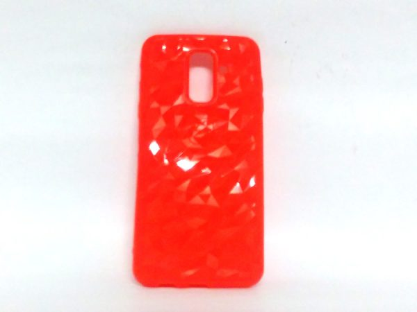 Crystal Back Case for Samsung A6 Plus Red Colour