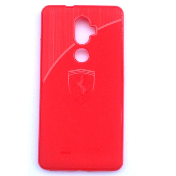 Ferrari Back case for Lenovo K8 Plus Red