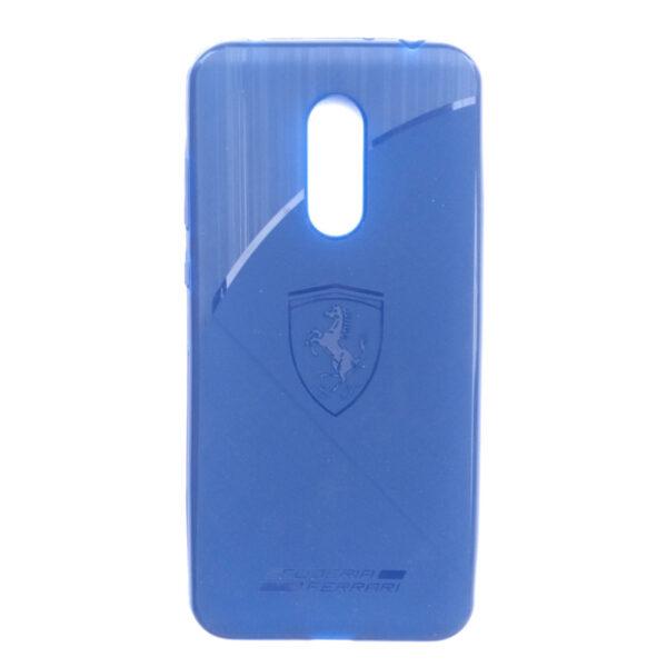Ferrari Back case for Redmi Note 5 Blue