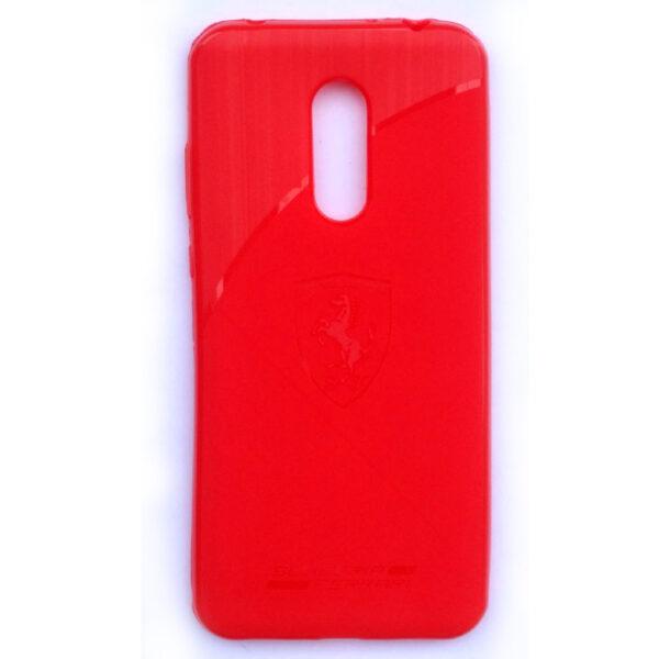 Ferrari Back case for Redmi Note 5 Red