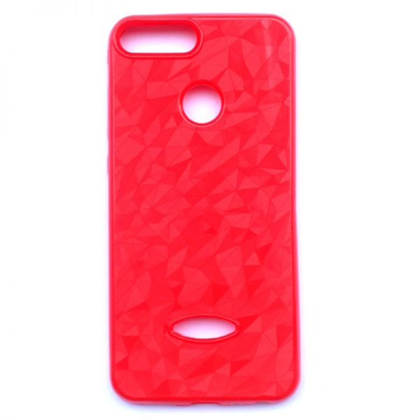 Crystal Back Case for Honor 9 Lite Red