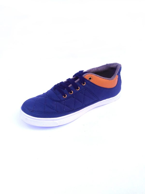 Casual Party wear Shoes for Men with Stitch Design Blue Color