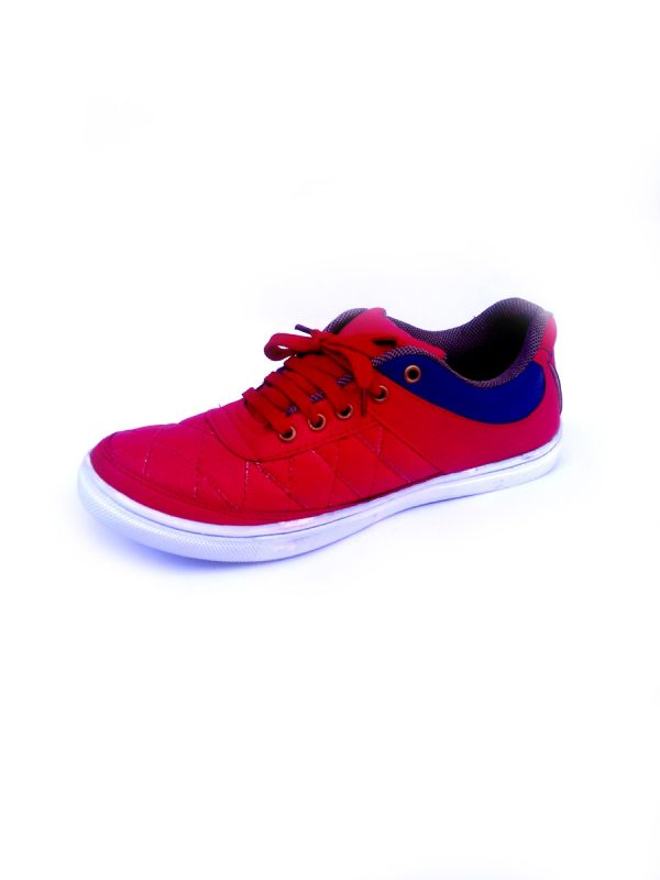Casual Party wear Shoes for Men with Stitch Design Red Color