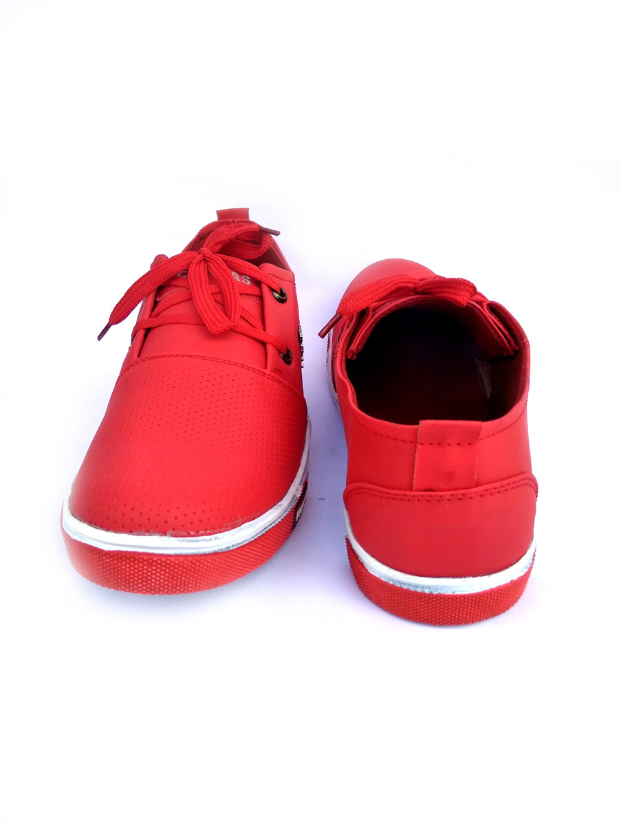 Mens Office Sneaker Shoe Red Color