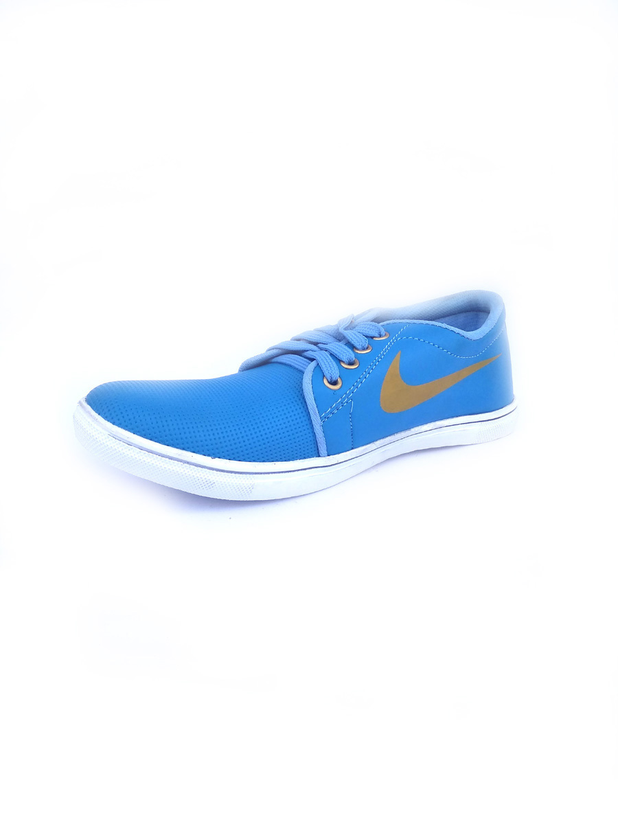 Dotted Casual Shoes For Men Sky Blue