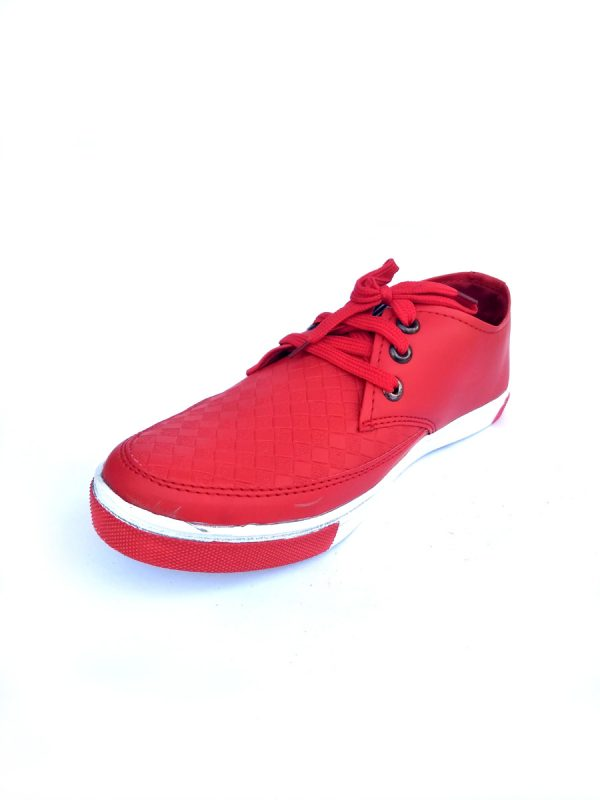 Mens Casual Party Wear Sneaker Zip type Red