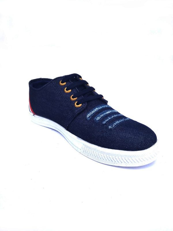 Men's Denim Casual Shoes and Sneakers Black Color