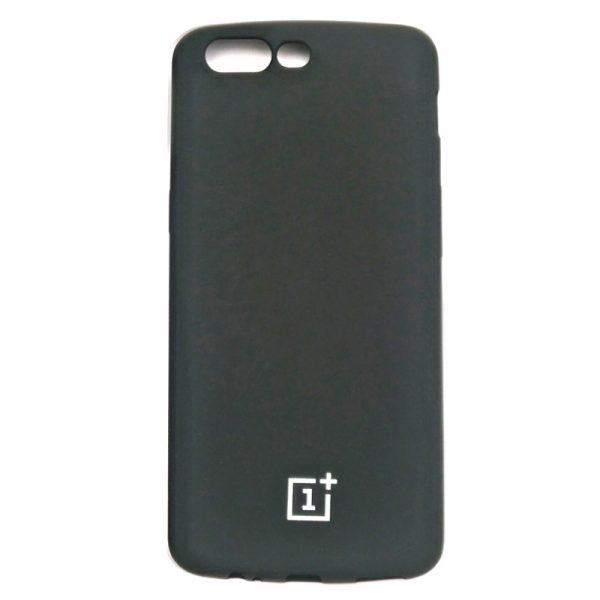 One Plus Five Stylish Velvet Back Case Black