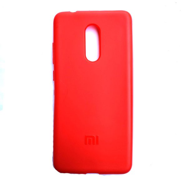 Rainbow back case for Redmi 5 Red colour