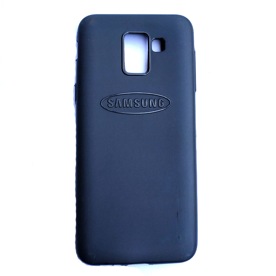 Rainbow back case for Samsung J6 Black colour
