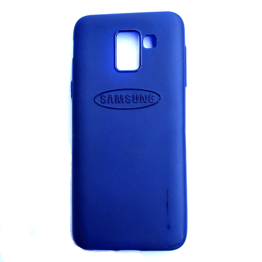 Rainbow back case for Samsung J6 Blue colour