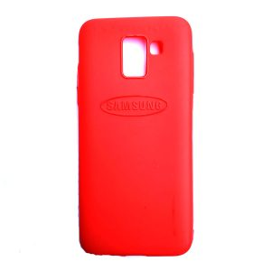 Rainbow back case for Samsung J6 Red colour