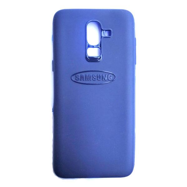 Rainbow back case for Samsung J8 Blue colour
