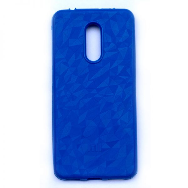 Crystal Back Cover For Redmi 5 Blue Colour