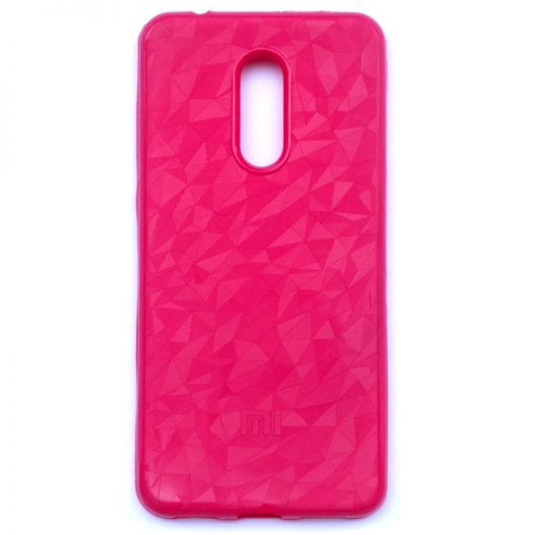 Crystal Back Cover For Redmi 5 Pink Colour