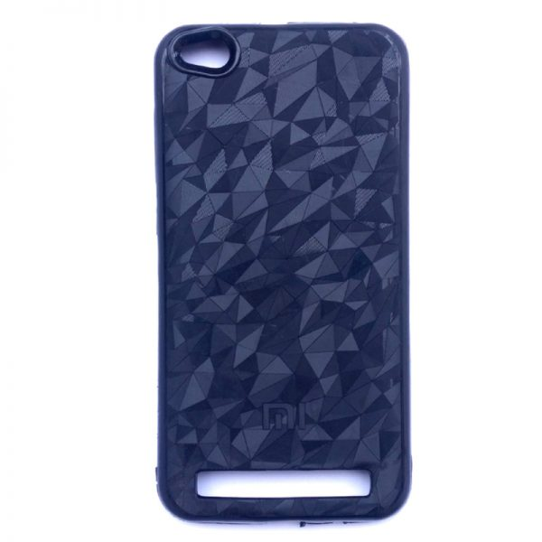 Crystal Back Case For Redmi 5A Black Colour