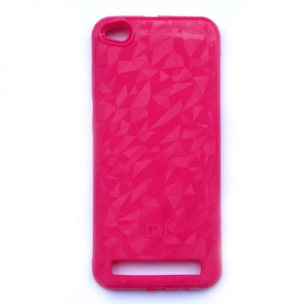 Crystal Back Case For Redmi 5A Pink Colour