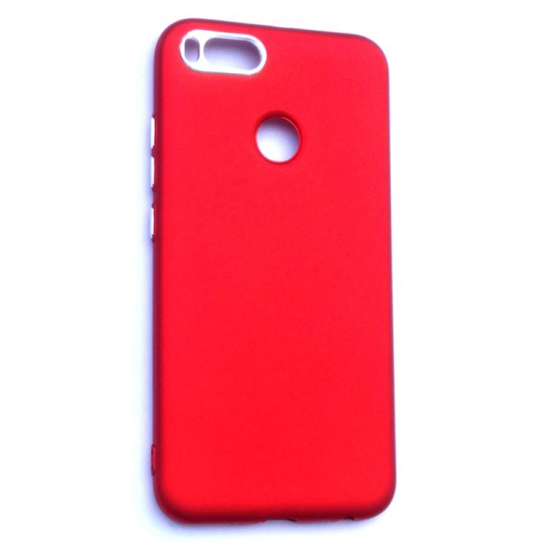 Smart Back Cover For Redmi A1 Red Colour