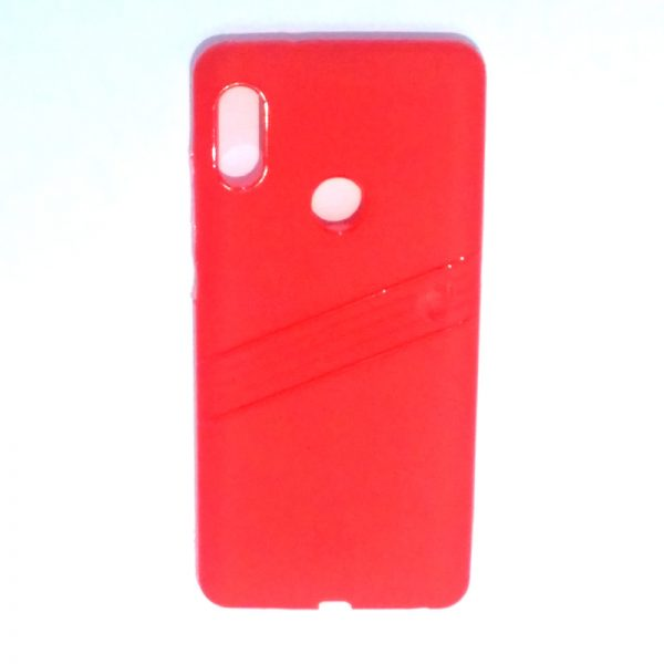 Redmi Note 5 Pro Line Back Cover Red Colour