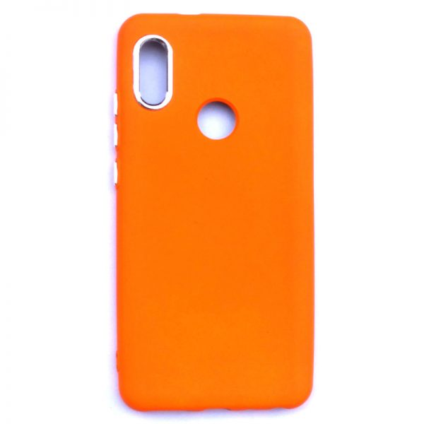 Smart Back Cover For Redmi Note 5 Pro Orange Colour