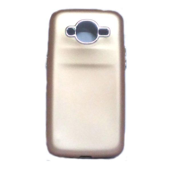 Silver Ring Back Cover for Samsung J210 Gold Colour