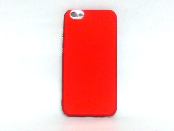 Silver Ring Back Cover for Vivo V5 Red Colour