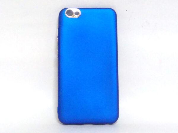 Silver Ring Back Cover for Vivo V5 Blue Colour