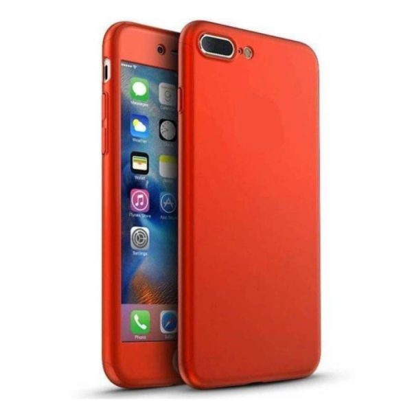 Ipaky 360 Back Cover for One Plus 5 Red Color
