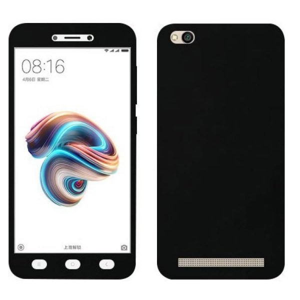 Ipaky 360 Back Cover for Redmi MI 5A Black Color