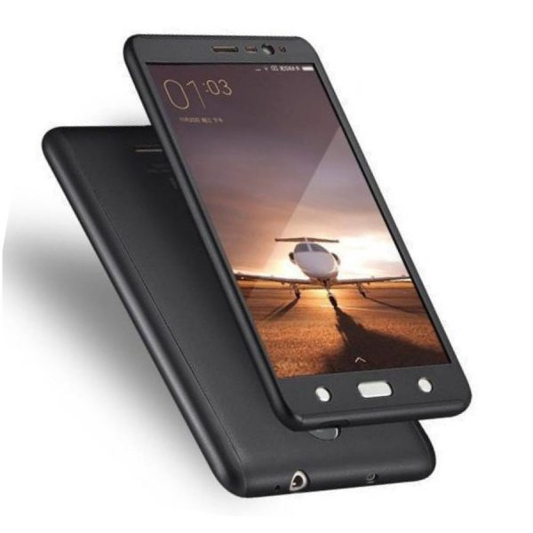 Ipaky 360 Back Cover for Redmi Note 4 Black Color