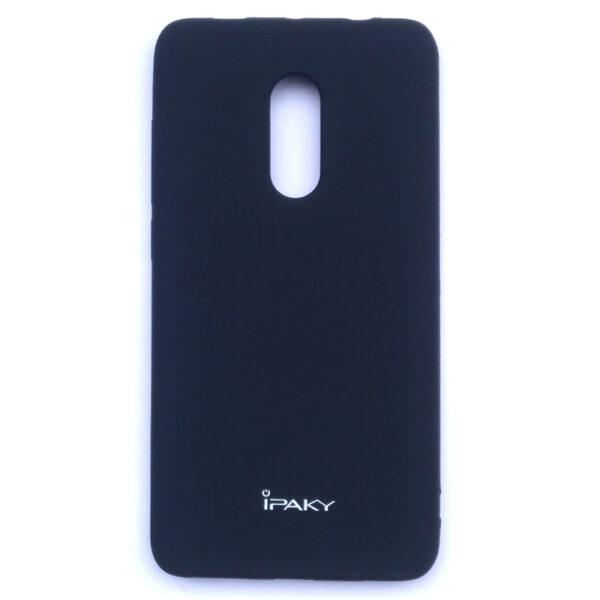 iPaky Redmi Note 4 Velvet Touch Back Case Black