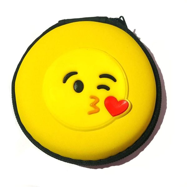Kissing Smiley earphone Carry Case Pouch