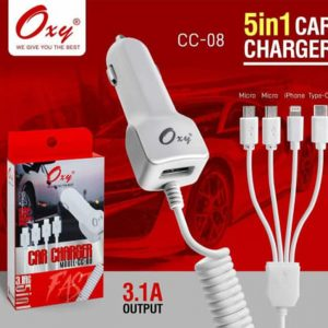 Oxy 3.1A Car Charge With 5 in 1 Multi Pin